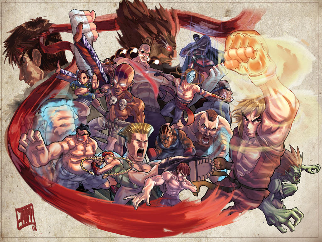 Street Fighter Tribute entry by ARMYCOM