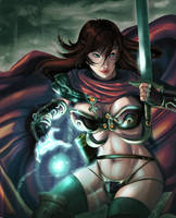 Magic Swordswoman by ARMYCOM