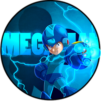 Megaman button by ARMYCOM