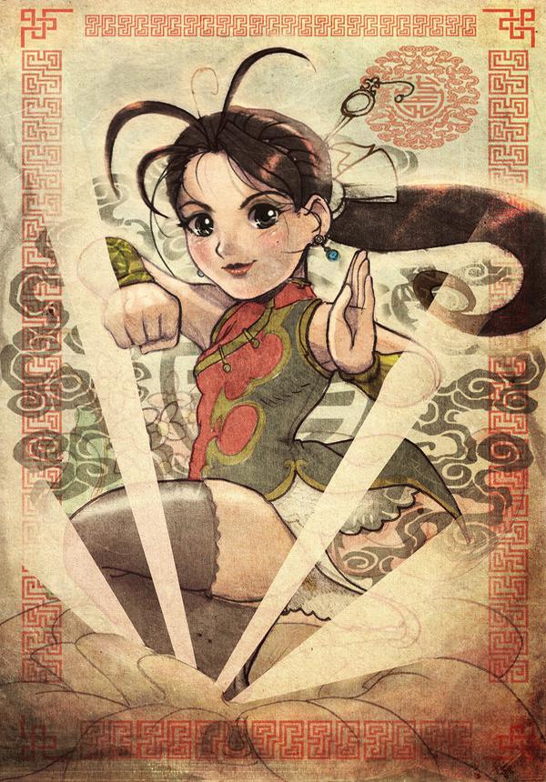 Kung fu Wu shu girl rocks by ARMYCOM