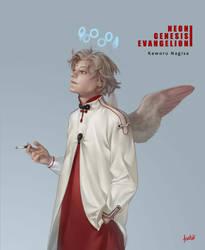 NGE Kaworu Nagisa by Syndrome-Echo
