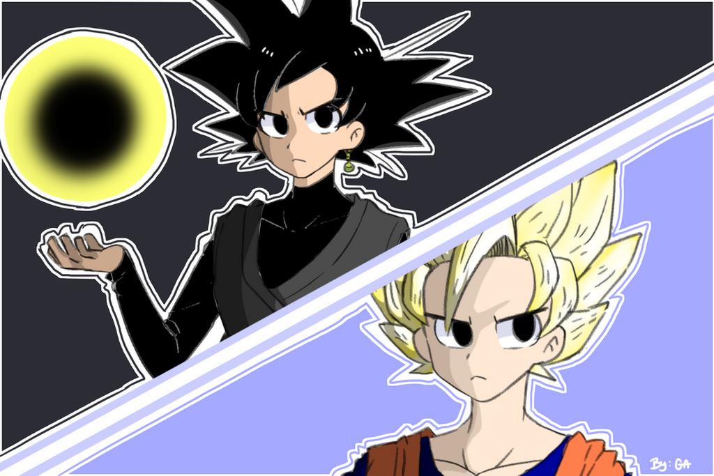 Dragonball Super Goku Black VS Son Goku SSJ2 By Gold