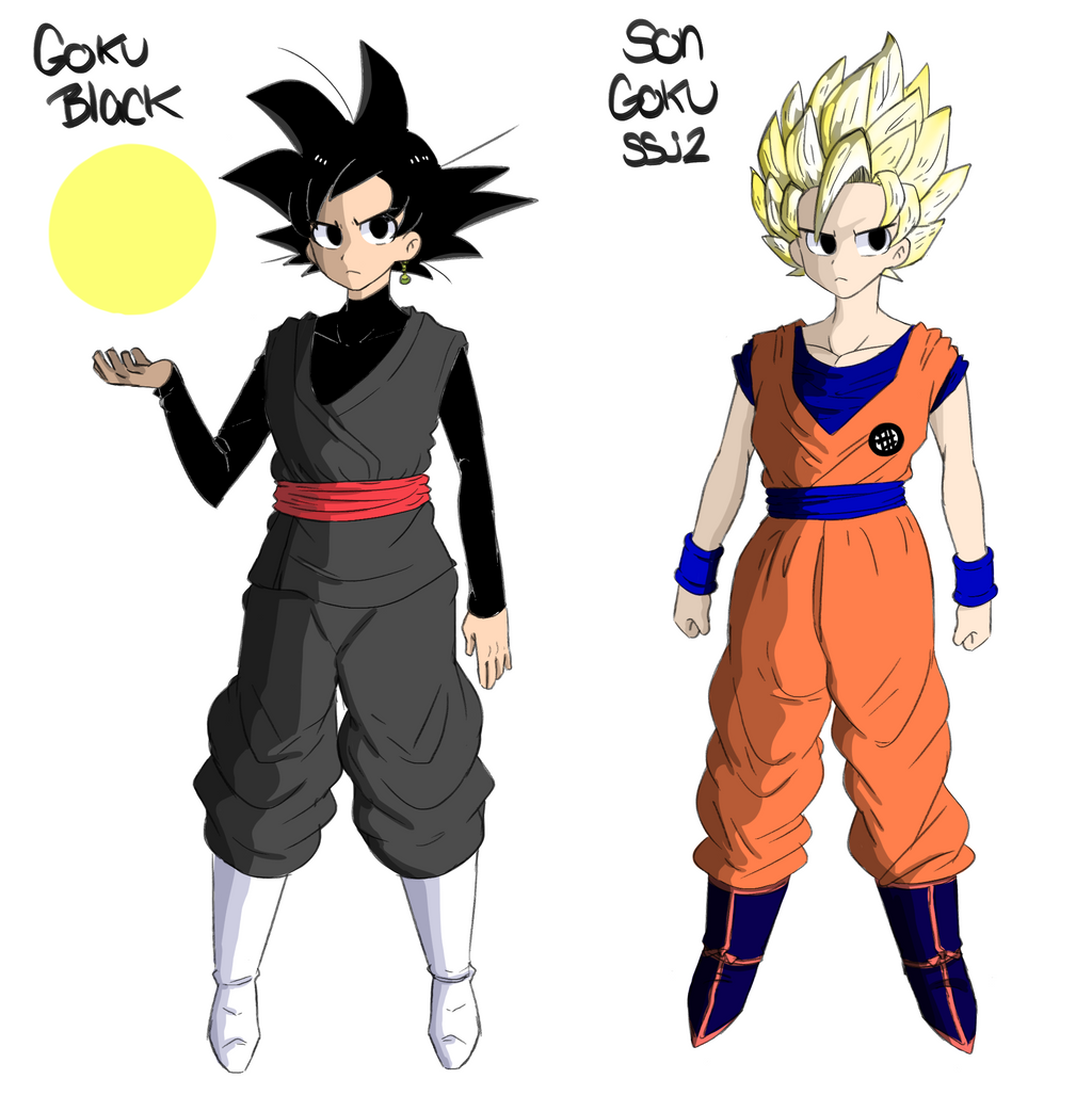 Dragonball Super Son Goku SSJ2 And Goku Black By Gold