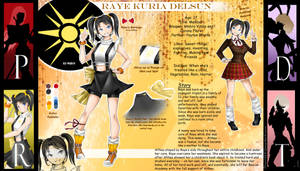RWBY OC: Raye Reference by BlissClouds