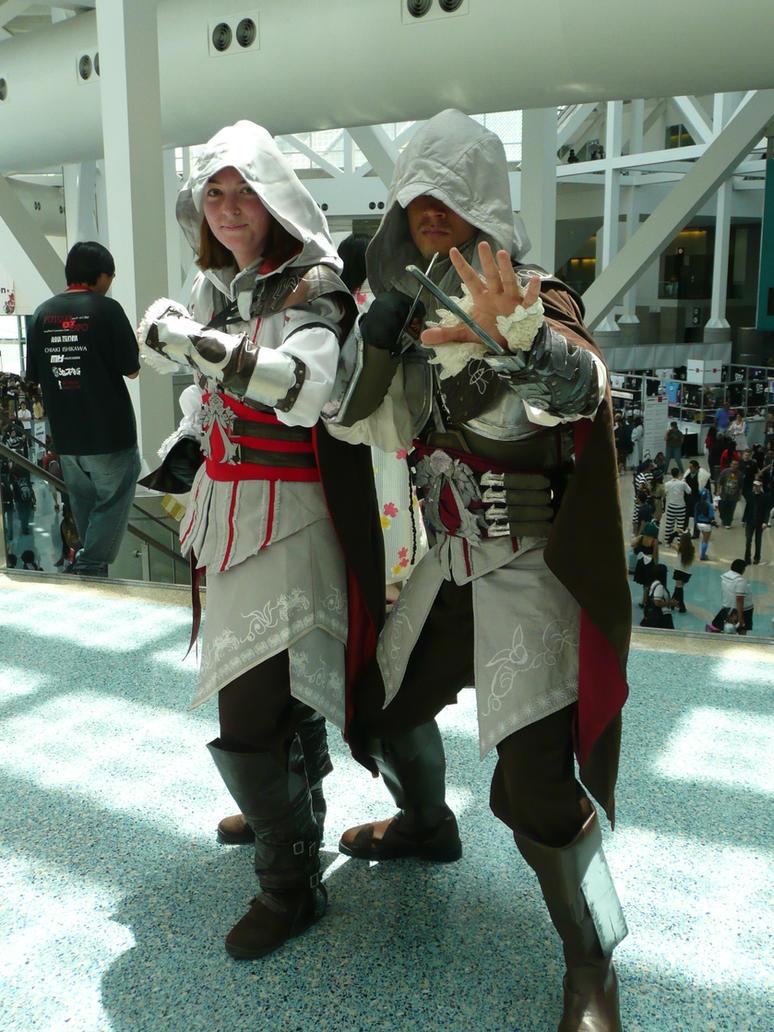 Ezio and Ezio by FeralSeraph
