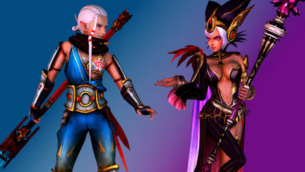 Impa and Cia by AdeptusInfinitus