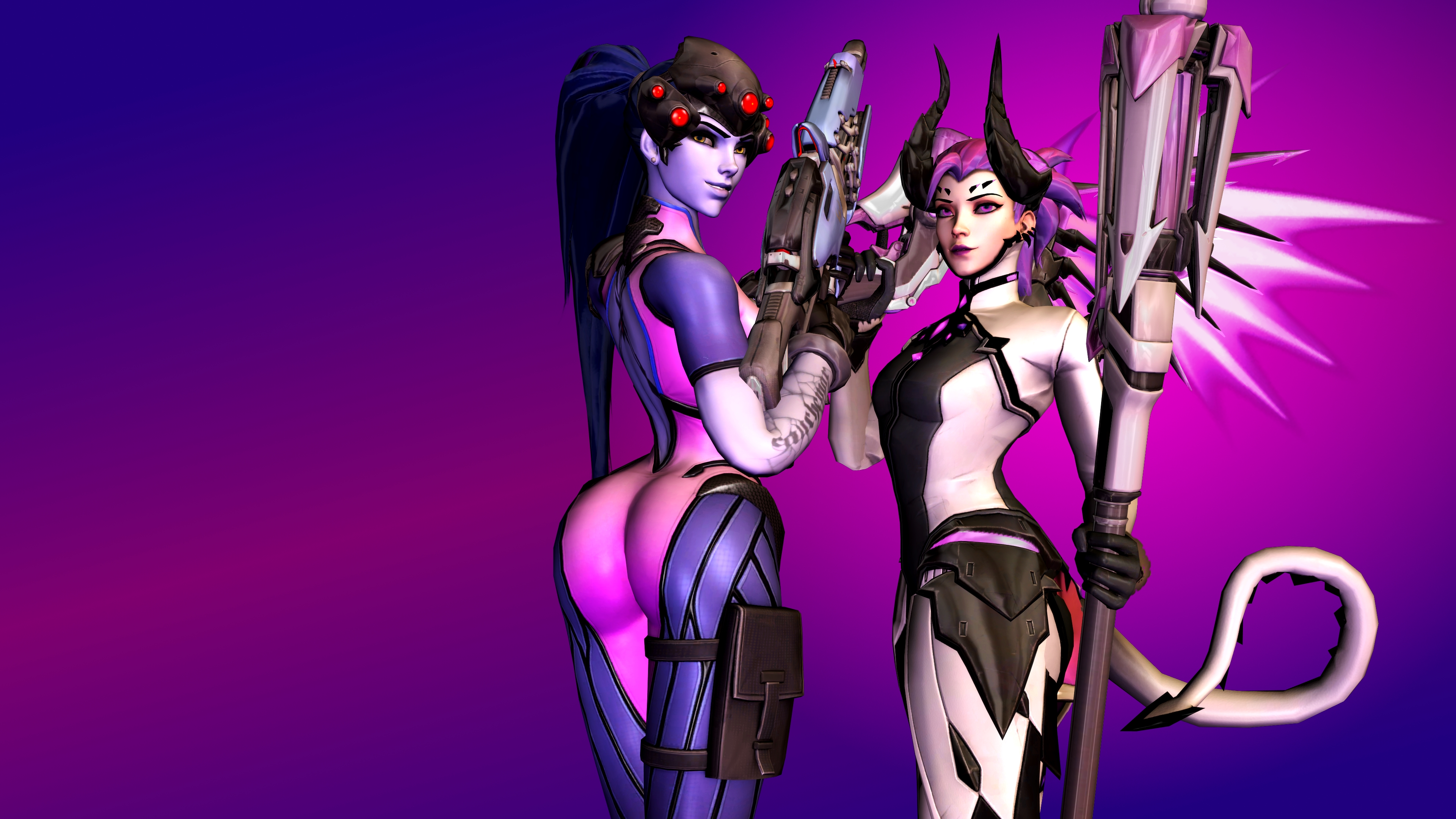 Overwatch (5 - Widowmaker and Mercy) by AdeptusInfinitus
