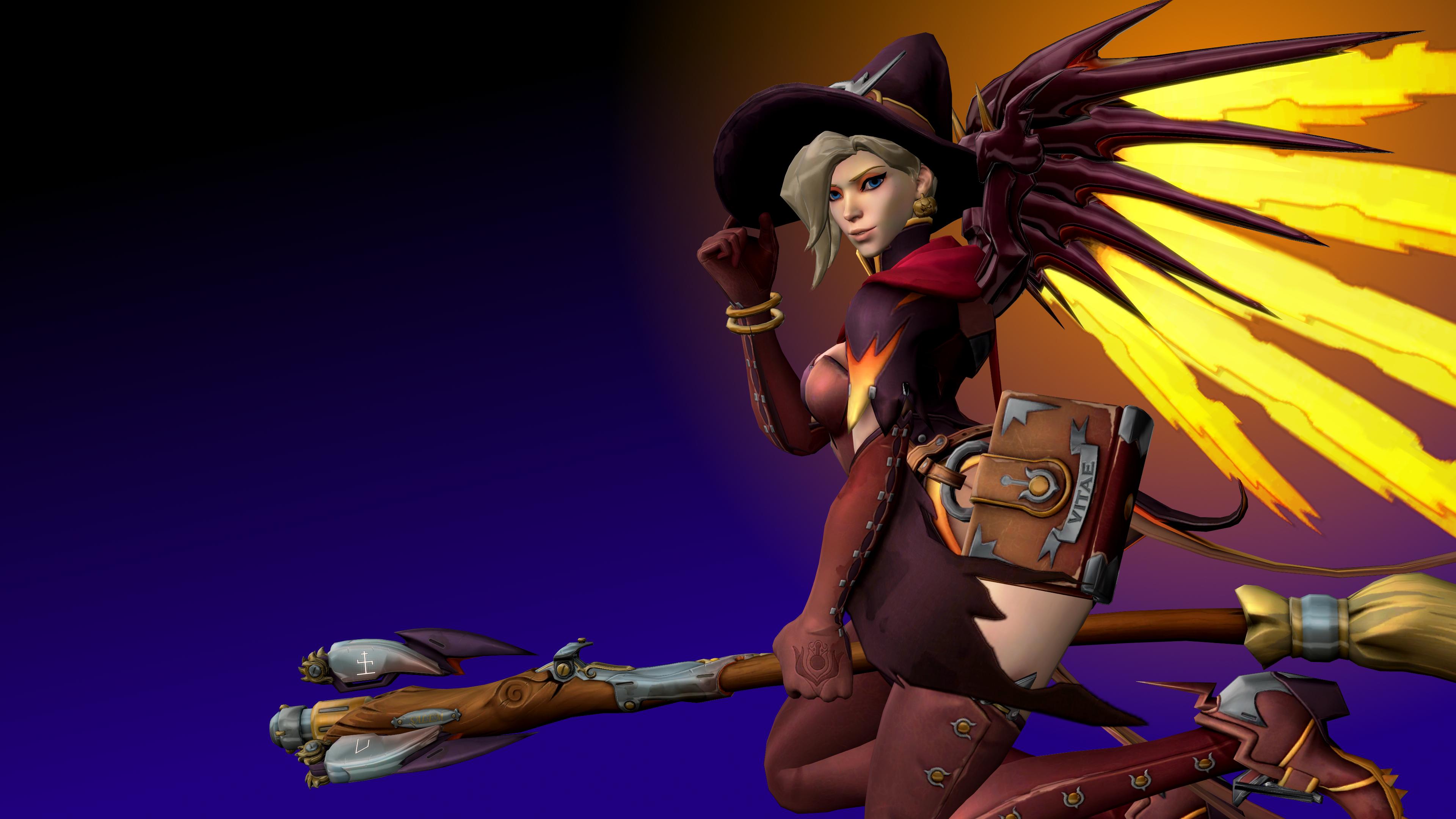 Overwatch (9d - Witch Mercy) by AdeptusInfinitus on DeviantArt