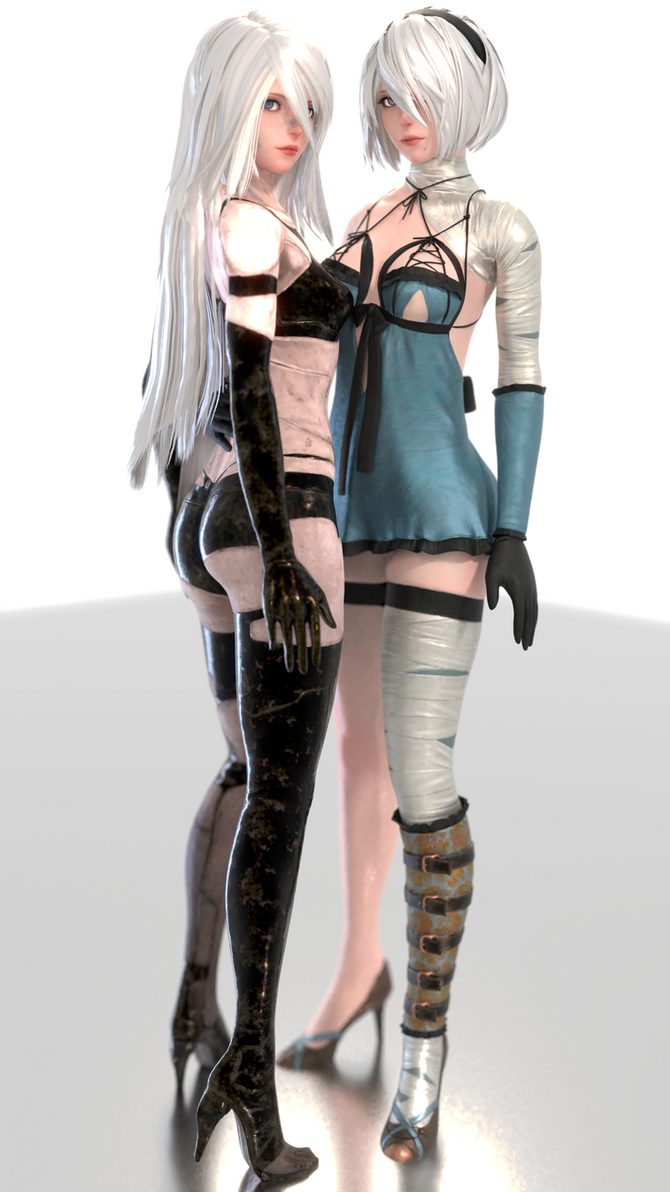 Nier (04 a - 2B and A2 [B]) by AdeptusInfinitus