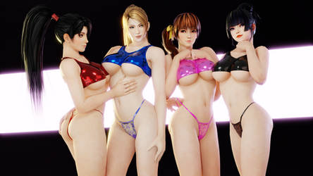 DoA (41 - Momiji, Sarah, Kasumi and Nyotengu [B]) by AdeptusInfinitus