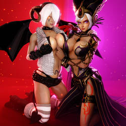 King of Fighters (7 - Angel Diabla and Cia [B]) by AdeptusInfinitus