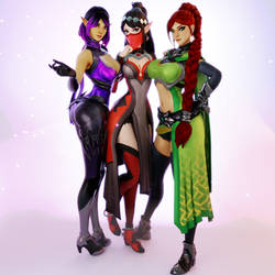 Paladins (7 - Skye, Ying and Cassie [B]) by AdeptusInfinitus