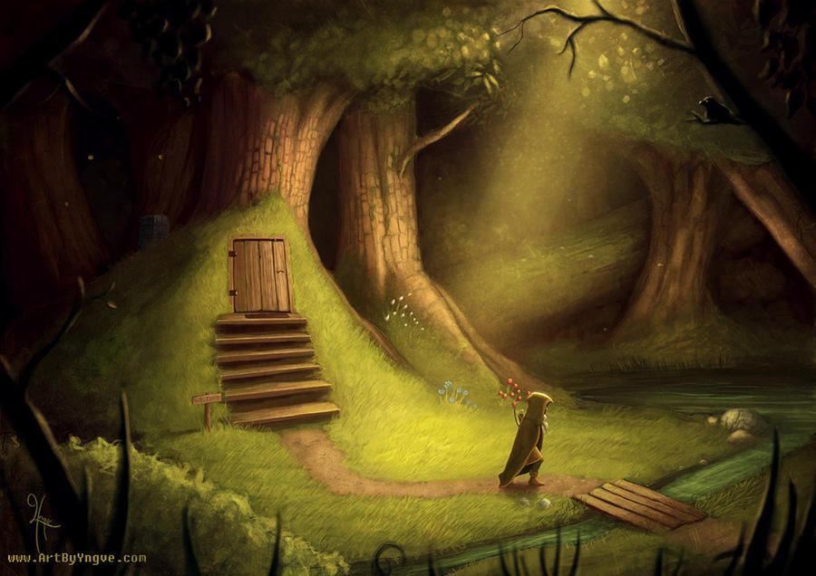 Forest scene by YngveMartinussen