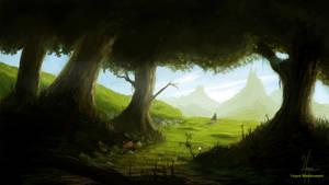 Doodling Forest by YngveMartinussen
