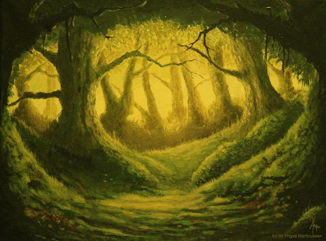 Forest - Traditional painting by YngveMartinussen