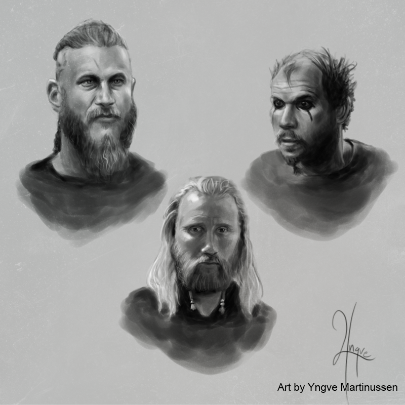 Vikings sketches 01 by YngveMartinussen