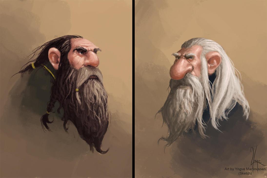 Dwarf sketches by YngveMartinussen