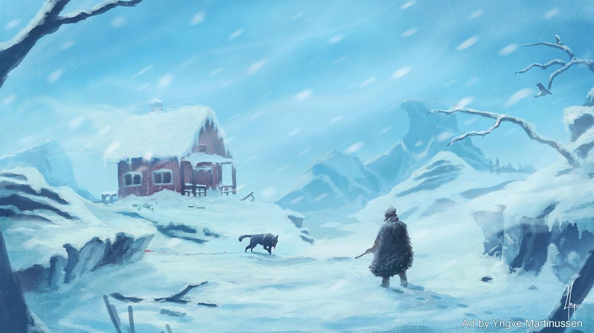 Snowstorm by YngveMartinussen