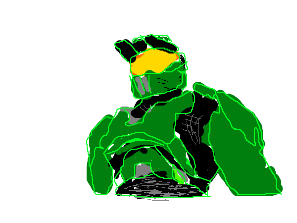 halo master chief how to draw