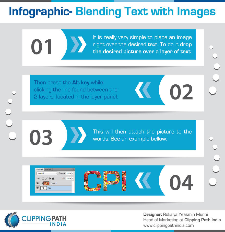 Blending Text with Images by clippingpathindia