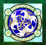Celtic Horses - Stained Glass
