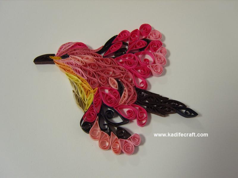 quilling bird by kadifecraft