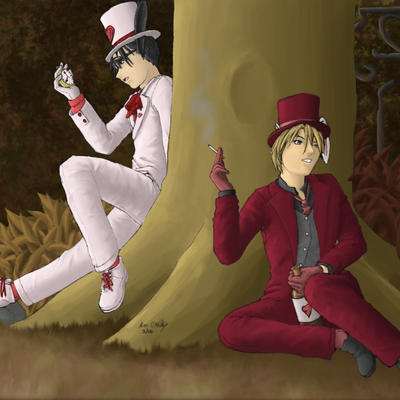 Shuichi in Wonderland by Red-Fallout