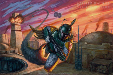 Boba Fett Twin Shadows by TylerWalpole