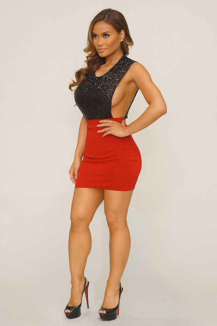 9885956c0b Simona in black top n red mini skirt by Ragalahari on DeviantArt