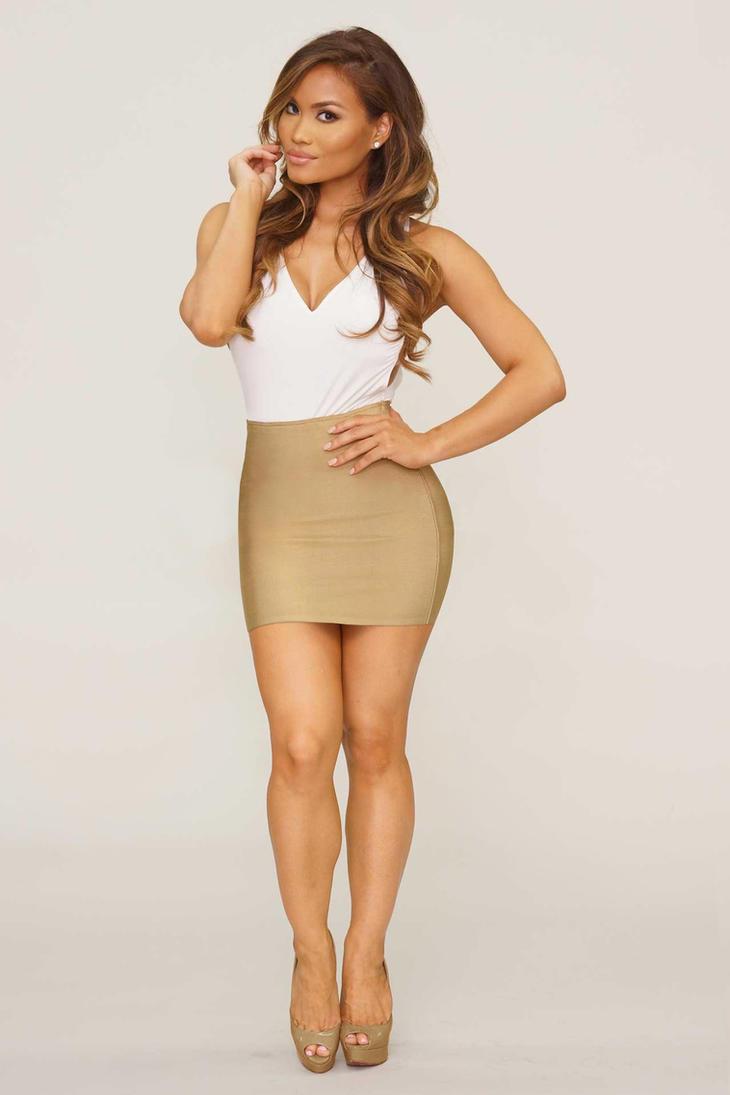 Simona in beige mini skirt by Ragalahari on DeviantArt