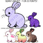 bunny lineart P2U - $1 or 100 points!