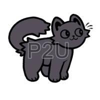 kitty lineart P2U - $1 or 100 points! by thekingtheory
