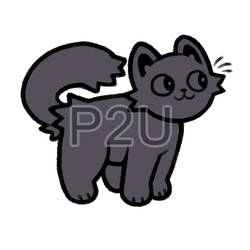 kitty lineart P2U - $1 or 100 points! by thekingtheory