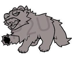 wolverine lineart P2U - $1 or 100 points! by thekingtheory