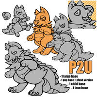 pupodile bases p2u - $4.00 or 400 points! by thekingtheory