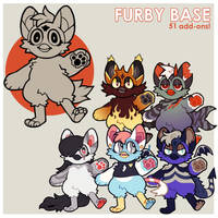 anthro furby base p2u - $5.00 or 500 points! by thekingtheory