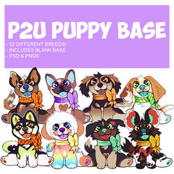 puppy in a bow base p2u - $7.00/700 points!