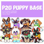 puppy in a bow base p2u - $7.00 or 700 points!