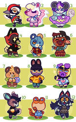 Animal Crossing Villager Adopts -- OPEN! {reduced} by thekingtheory