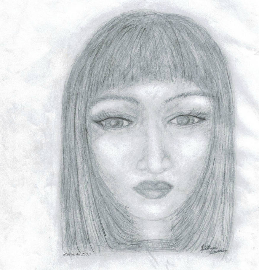 My first pencil drawing of a human face by lillianlucretia