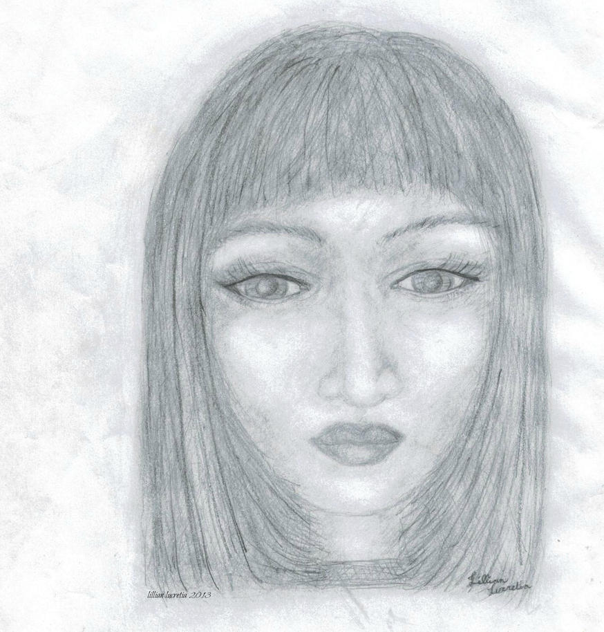 my first pencil drawing of a human face by lillianlucretia ...