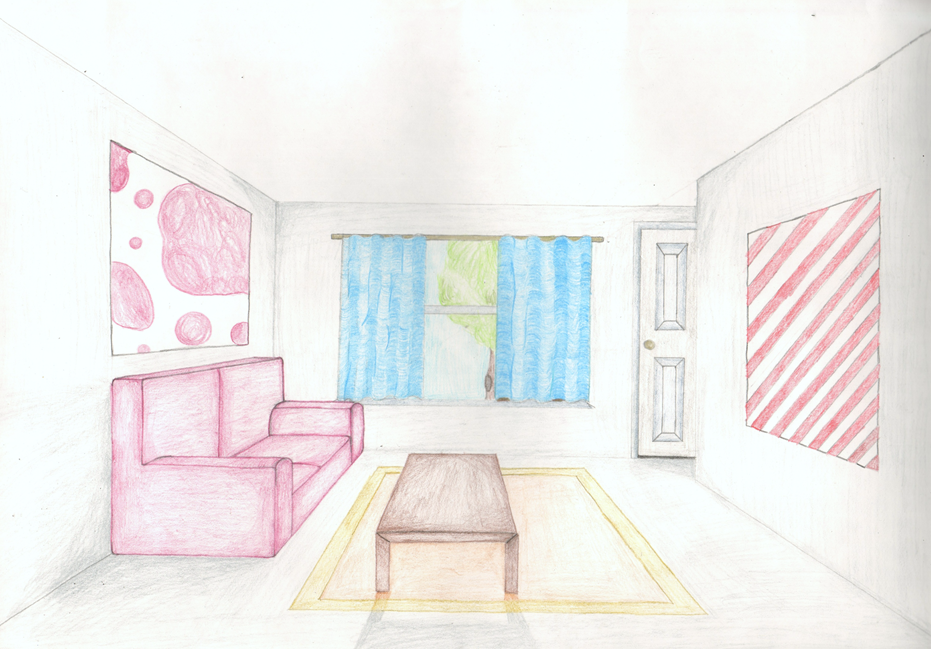 One Point Perspective Room By Backintime89 On Deviantart