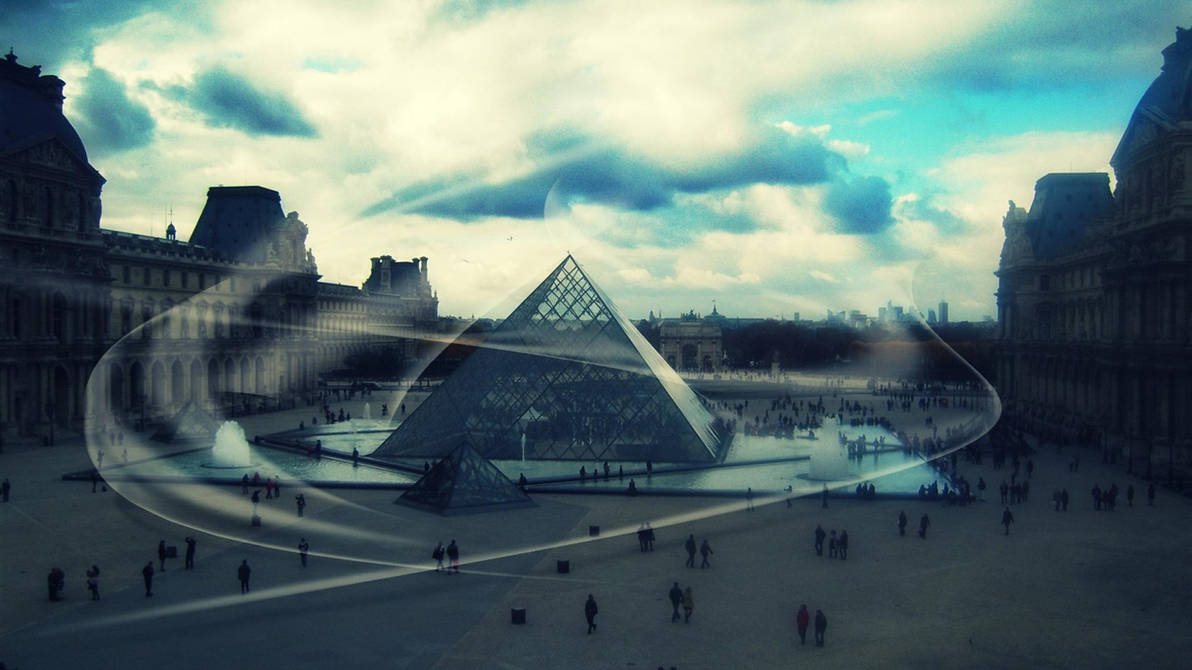 louvre museum france paris -city Landscape Wallpap