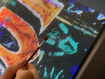 Drawing Street Art on a CRT TV