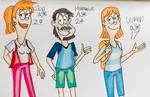 My version of Zoe, Hammie and Wren as grown ups