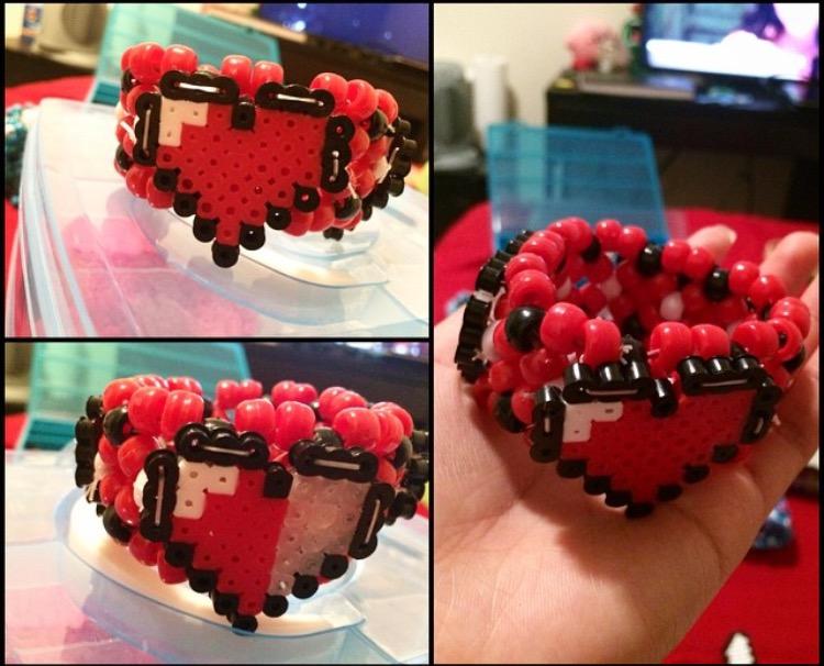 Zelda Heart Container Bracelet by kulitgurl16