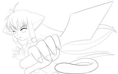 Neko ninja +lineart+
