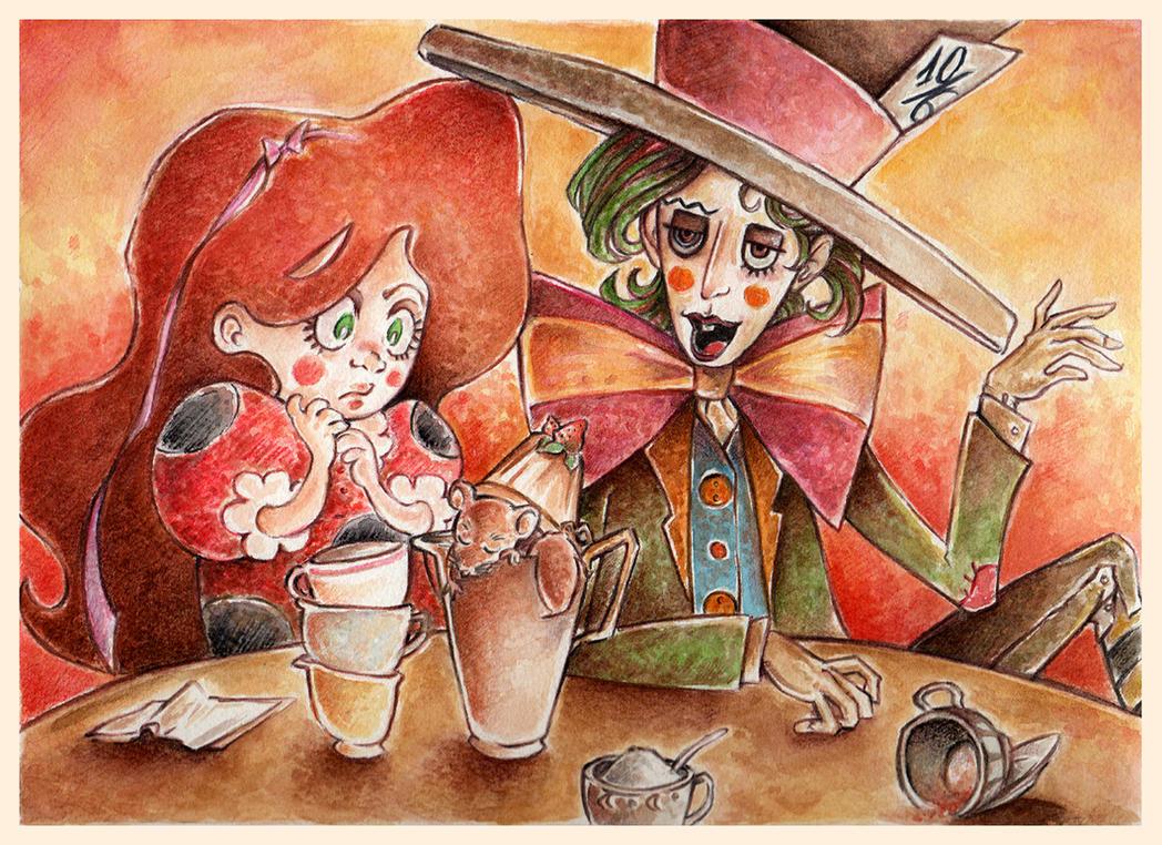 Alice In Wonderland IV by Nachan