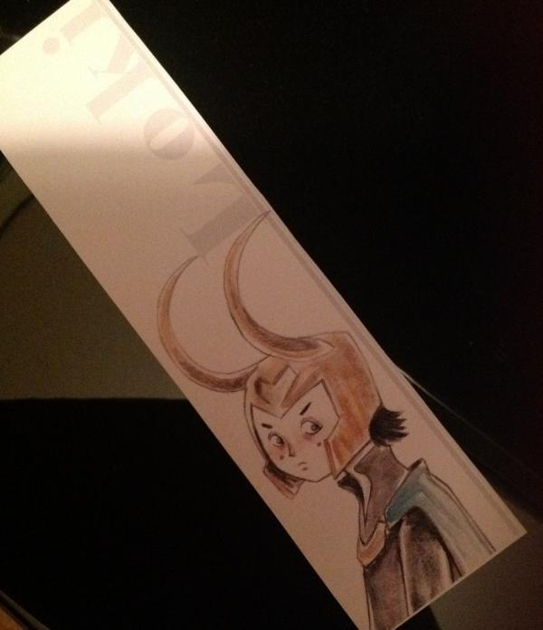 Mini-Loki Bookmark by Nachan