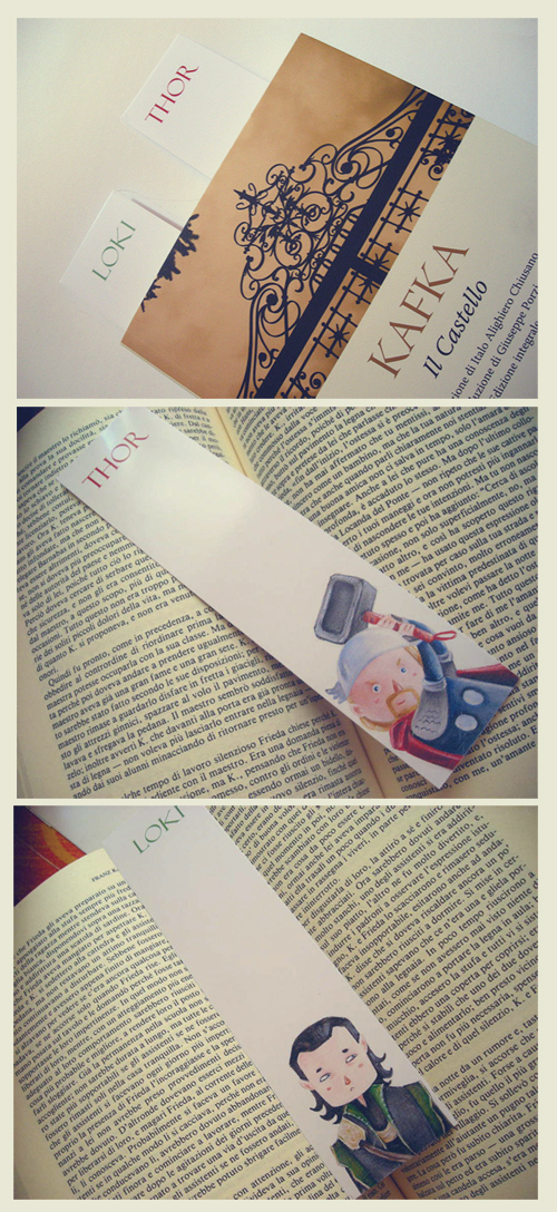 The Avengers Bookmarks - Thor e Loki by Nachan